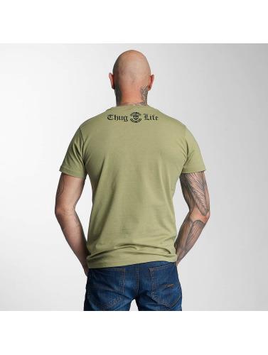 Rabatt Neuesten Kollektionen Thug Life Herren T-Shirt No Reason in olive Billig Verkauf Erhalten Authentisch Fabrikpreis OwrO7VIY