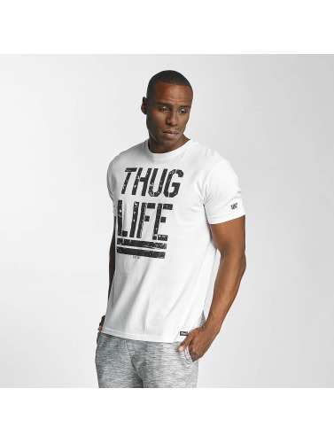 Thug Life Herren T-Shirt Ghost in weiß