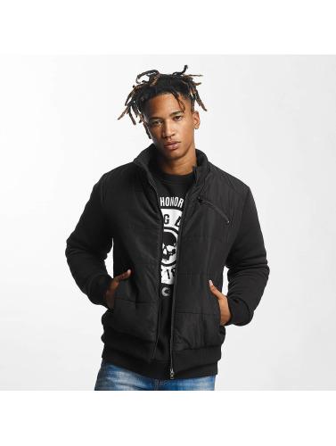 Thug Life Herren Winterjacke Big Logo in schwarz
