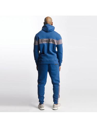 Thug Life Herren Zip Hoodie Bar in blau
