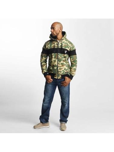 Thug Life Herren Zip Hoodie Bar in camouflage