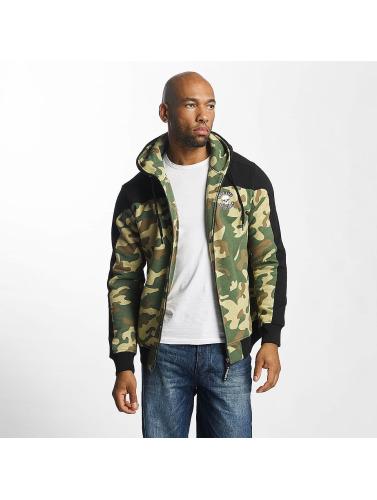 Thug Life Herren Zip Hoodie Crock in camouflage