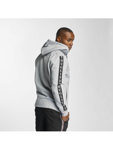 Thug Life Herren Zip Hoodie Wired Life in grau