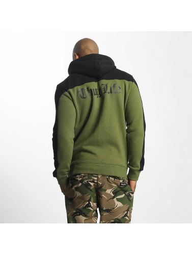 Thug Life Herren Zip Hoodie Crock in olive