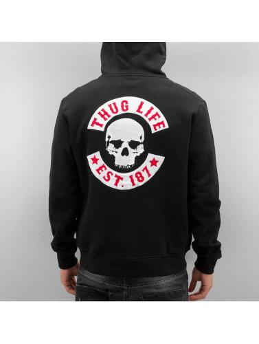 Thug Life Herren Zip Hoodie Angle Life in schwarz