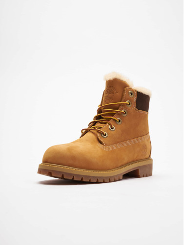 Timberland Mujeres Boots 6 In Premium Waterproof Shearling Lined in beis