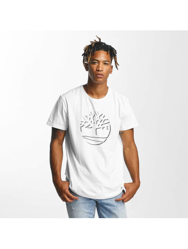 Timberland Hombres Camiseta Dead River in blanco