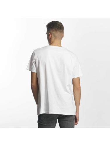 Timberland Hombres Camiseta 90S Logo in blanco