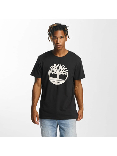 Timberland Hombres Camiseta Kennebec in negro