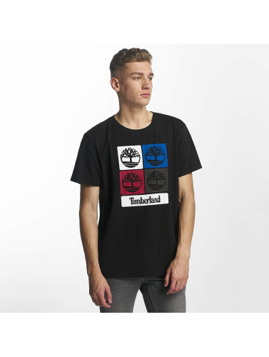 Timberland Hombres Camiseta 90S Logo in negro