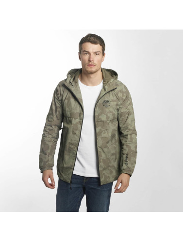Timberland Hombres Chaqueta de entretiempo Lightweight Hooded Shell in verde