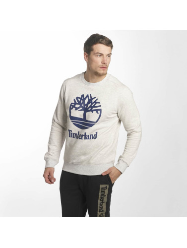 Timberland Hombres Jersey Stacked Logo in gris