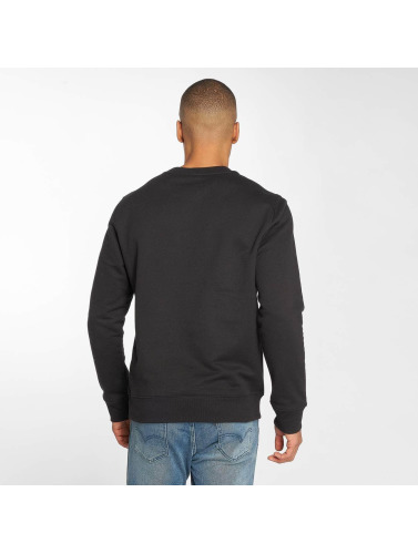 Timberland Hombres Jersey Stacked Logo in negro