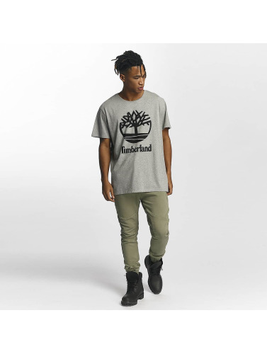 Timberland Herren T-Shirt Linear Basic Stacked in grau