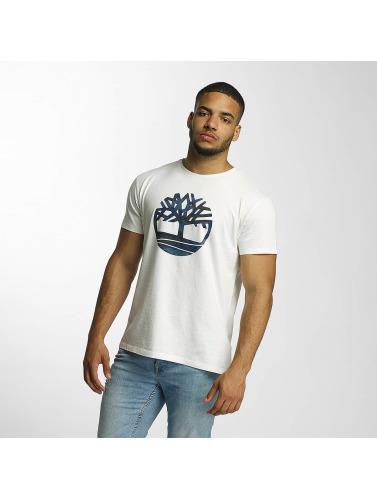 Timberland Herren T-Shirt Dustan River Camo Print Brand in weiß