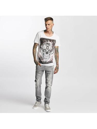 trueprodigy Hombres Camiseta Skull in blanco