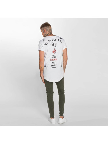 trueprodigy Hombres Camiseta No Place For Fakes in blanco