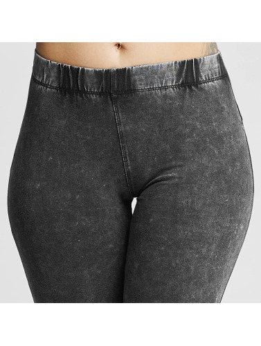 trueprodigy Damen Legging Ripped in grau
