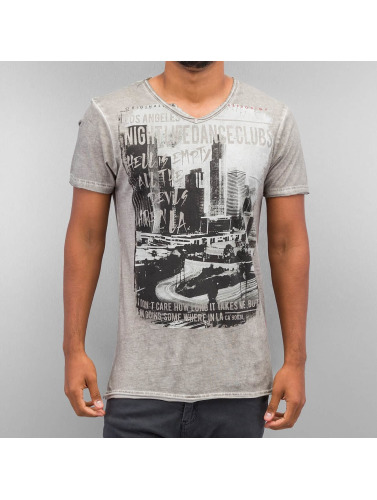 trueprodigy Herren T-Shirt Photoprint in grau