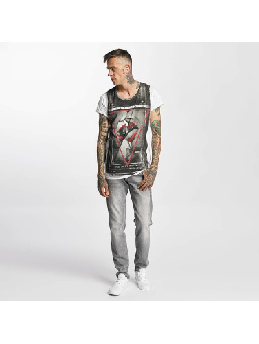trueprodigy Herren T-Shirt Kiss in weiß