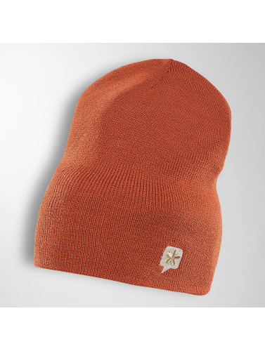 TrueSpin Beanie TS Wood Logo in orange