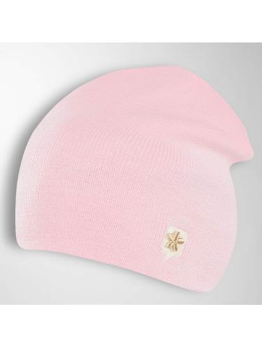 TrueSpin Beanie TS Wood Logo in rosa