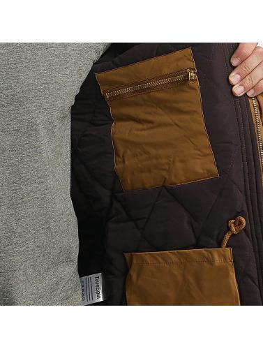 TrueSpin Hombres Chaqueta de invierno Fishtail in marrón