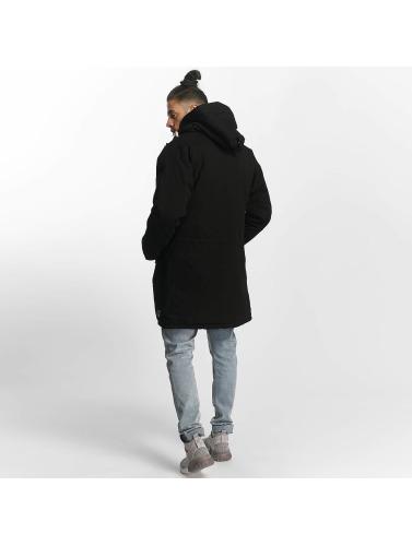 TrueSpin Hombres Chaqueta de invierno Cold City in negro