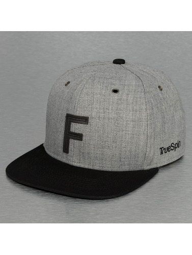 TrueSpin Snapback Cap ABC-F Wool in grau