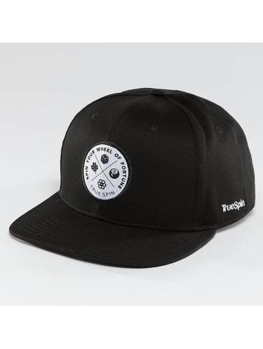 TrueSpin Snapback Cap Luck in schwarz
