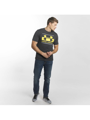 Under Armour Hombres Camiseta Blocked Sportstyle in gris