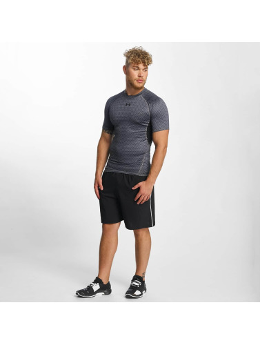 Under Armour Herren T-Shirt Heatgear Printed Shortsleeve Compression in grau