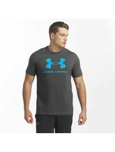 Under Armour Herren T-Shirt Charged Cotton Sportstyle Logo in grau
