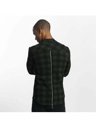 Uniplay Hombres Camisa Checkered in caqui