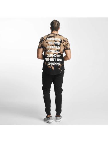 Unkut Hombres Camiseta Pitbull in negro