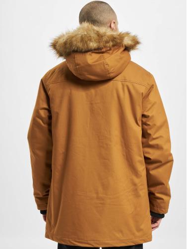 Urban Classics Hombres Abrigo Heavy Cotton Imitation Fur in marrón
