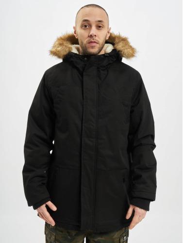 Urban Classics Hombres Abrigo Heavy Cotton Imitation Fur in negro