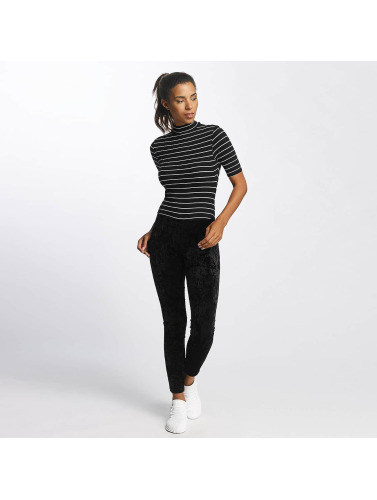 Urban Classics Mujeres Body Striped Turtleneck in negro