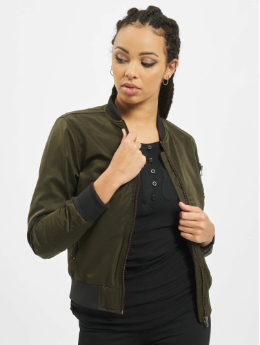 Urban Classics Damen Bomberjacke Ladies Nylon Twill in olive