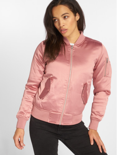 Urban Classics Damen Bomberjacke Satin Bomber in rosa
