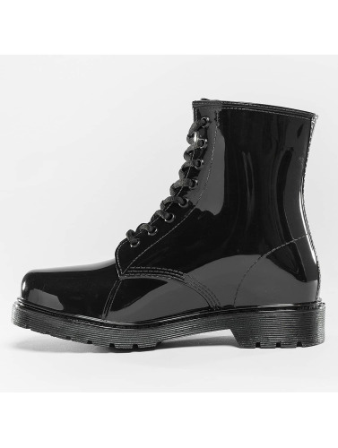 Urban Classics Mujeres Boots Laced Rain in negro