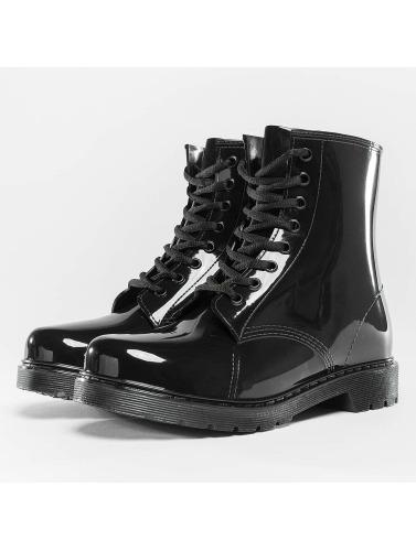 Urban Classics Damen Boots Laced Rain in schwarz