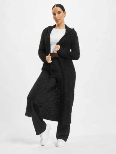 Urban Classics Mujeres Cárdigans Hooded Feather in negro