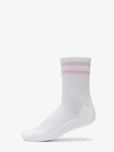 Urban Classics Calcetines 2-Pack Stripe Sport in blanco