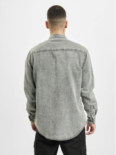 Urban Classics Hombres Camisa Low Collar in gris