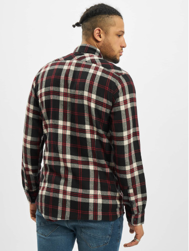 Urban Classics Hombres Camisa Checked Flanell 3 in negro