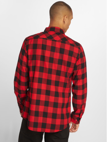 Urban Classics Hombres Camisa Checked Flanell in rojo