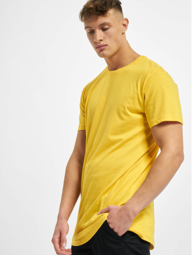 Urban Classics Hombres Camiseta Shaped Oversized Long in amarillo