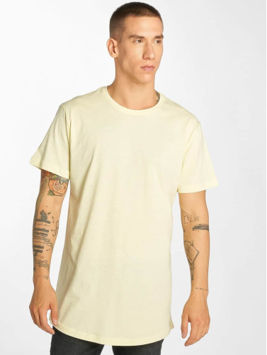 Urban Classics Hombres Camiseta Shaped Long in amarillo