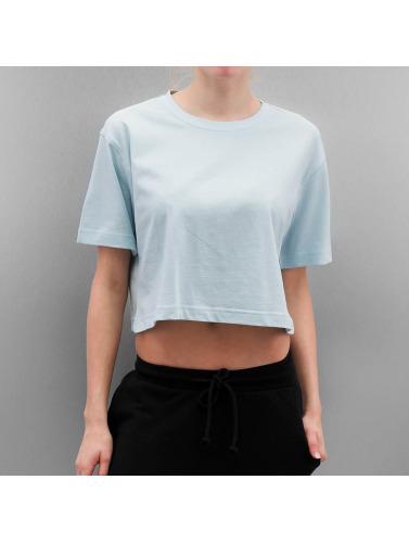 Urban Classics Mujeres Camiseta Ladies Oversized Short in azul